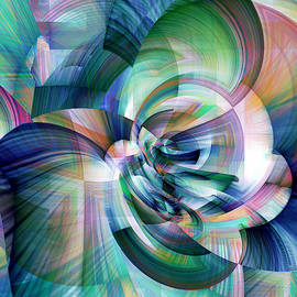 Blue Abstraction by Grace Iradian