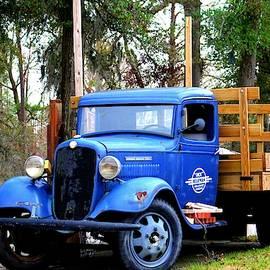 Blue Aged Truck by Cynthia Guinn