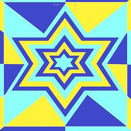 Blue and Yellow Star by Chante Moody