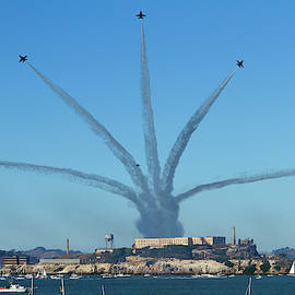 Blue Angels Finale Over Alcatraz by Bonnie Follett