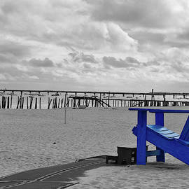 Blue Beach Chair Provincetown Cape Cod Massachusetts 02 SC by Thomas Woolworth