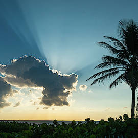 Blue Beam Sunrise Delray Beach Florida by Lawrence S Richardson Jr