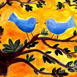 Blue Birds 1 by A Hillman