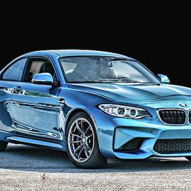 Blue BMW by Sharon Popek