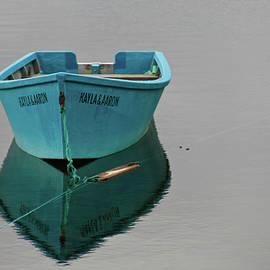 Blue boat floating by Tatiana Travelways