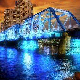 Blue Bridge Autumn Sky by Evie Carrier