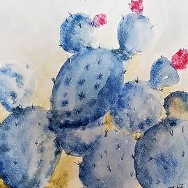 Blue Cactus by Barbara Chichester