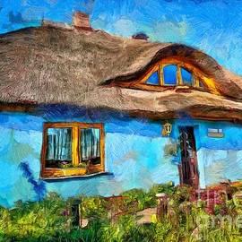Blue Cottage by Eva Lechner