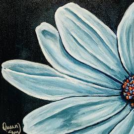 Blue Daisy  by Queen of Arts Studio and Gallery