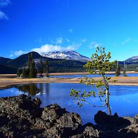 Blue Day at Sparks Lake  by Dana Hardy