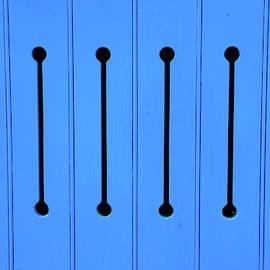 Blue Door With Arrow Slits by Helen Northcott