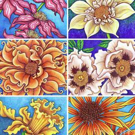 Blue Garden Patchwork 1 by Amy E Fraser