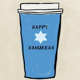 Blue Hanukkah Coffee- Art By Linda Woods by Linda Woods