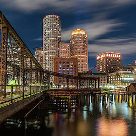 Blue Hour In Boston Harbor by Jesse MacDonald