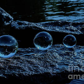 Blue Orbs by Linda Howes