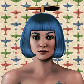 Blue Propeller Gal by Udo Linke