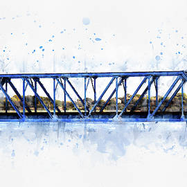 Blue Railway Bridge over the Odiaxere River by Western Exposure