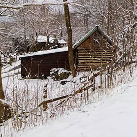 Blue Ridge Barn in Snow by Norma Brandsberg