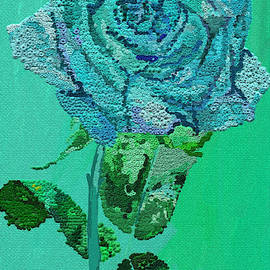 Blue rose by Dr Fullilove