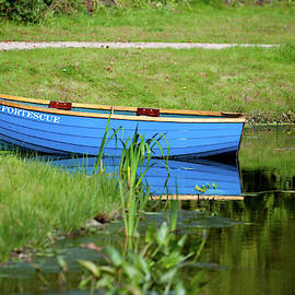 Blue Rowing Boat by Helen Northcott