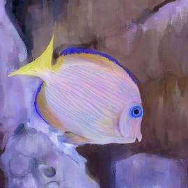 Blue Striped Grunt Digital Painting by Gene Norris