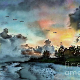 Blue Sunset Over Sanibel Island by Jeff Breiman