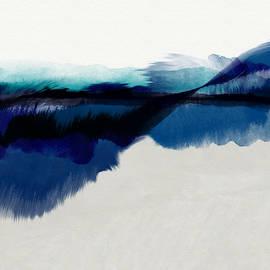 Blue Vista- Art By Linda Woods by Linda Woods