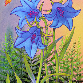 Bluebells with Rocks by Teresa Ascone