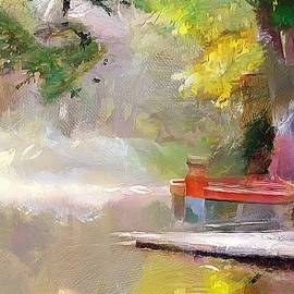Boat by The River by Wayne Pascall