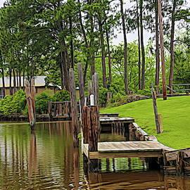 Boat Dock Avery Island USA by Chuck Kuhn