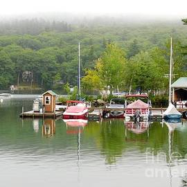 Boat Dock on the Southern Shore of Lake Sunapee in Newbury New Hampshire by Rose Santuci-Sofranko