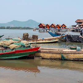 Boats In Lang Co - Hue, Vietnam by Madeline Ellis