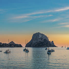 Es Vedra view and boats by Cristian Matei