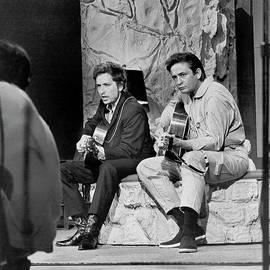 Bob Dylan & Johnny Cash by Michael Ochs Archives
