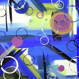 Bold Whimsy II - Blue by Jilian Cramb - AMothersFineArt