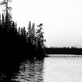Bonar Lake Black And White by Debbie Oppermann