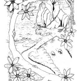 Delynn Addams - Bonsai by the Sea PAINT MY SKETCH by Delynn Addams