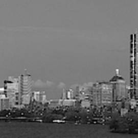 Boston Black And White Panorama Selective Colors by Juergen Roth