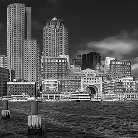 Boston Harbor Skyline by Robert Mitchell