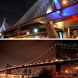 Boston Meets New York Zakim Bridge Manhattan Bridge Massachusetts New York by Toby McGuire
