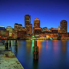 Boston Twilight At Fan Pier by Rick Berk