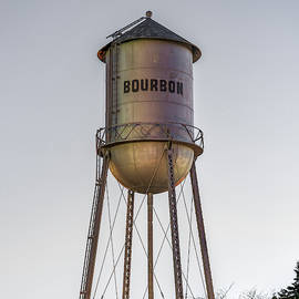 Bourbon Water Tower Vintage Decor - Square by Gregory Ballos