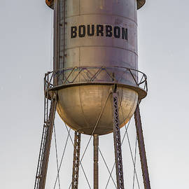 Bourbon Water Tower Vintage Decor - Vertical Format by Gregory Ballos
