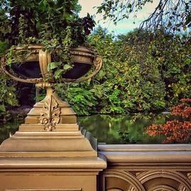 Bow Bridge - Detail - Central Park New York by Miriam Danar