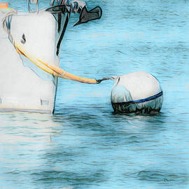 Bow To Anchor Buoy  by Leslie Montgomery
