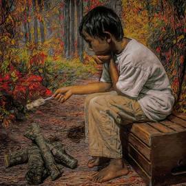 Boy All Alone In The Woods by Pamela Walton