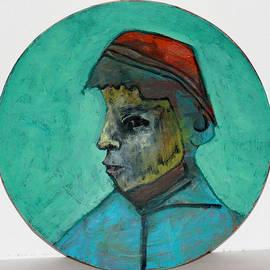 Boy In A Red Hat by Artist Dot