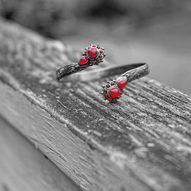 Bracelet Red by Sharon Popek