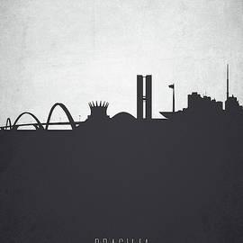 Aged Pixel - Brasilia Skyline Cityscape BRBR19