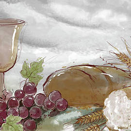 Bread And Wine by Peter Awax
